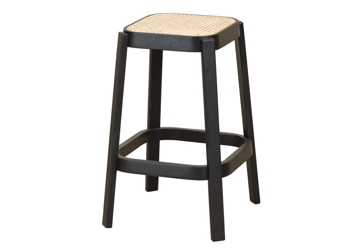 CANE high stool, black