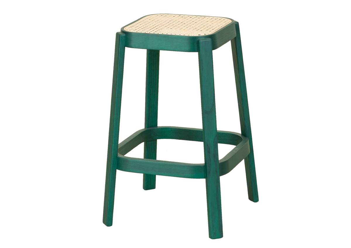 CANE high stool, green