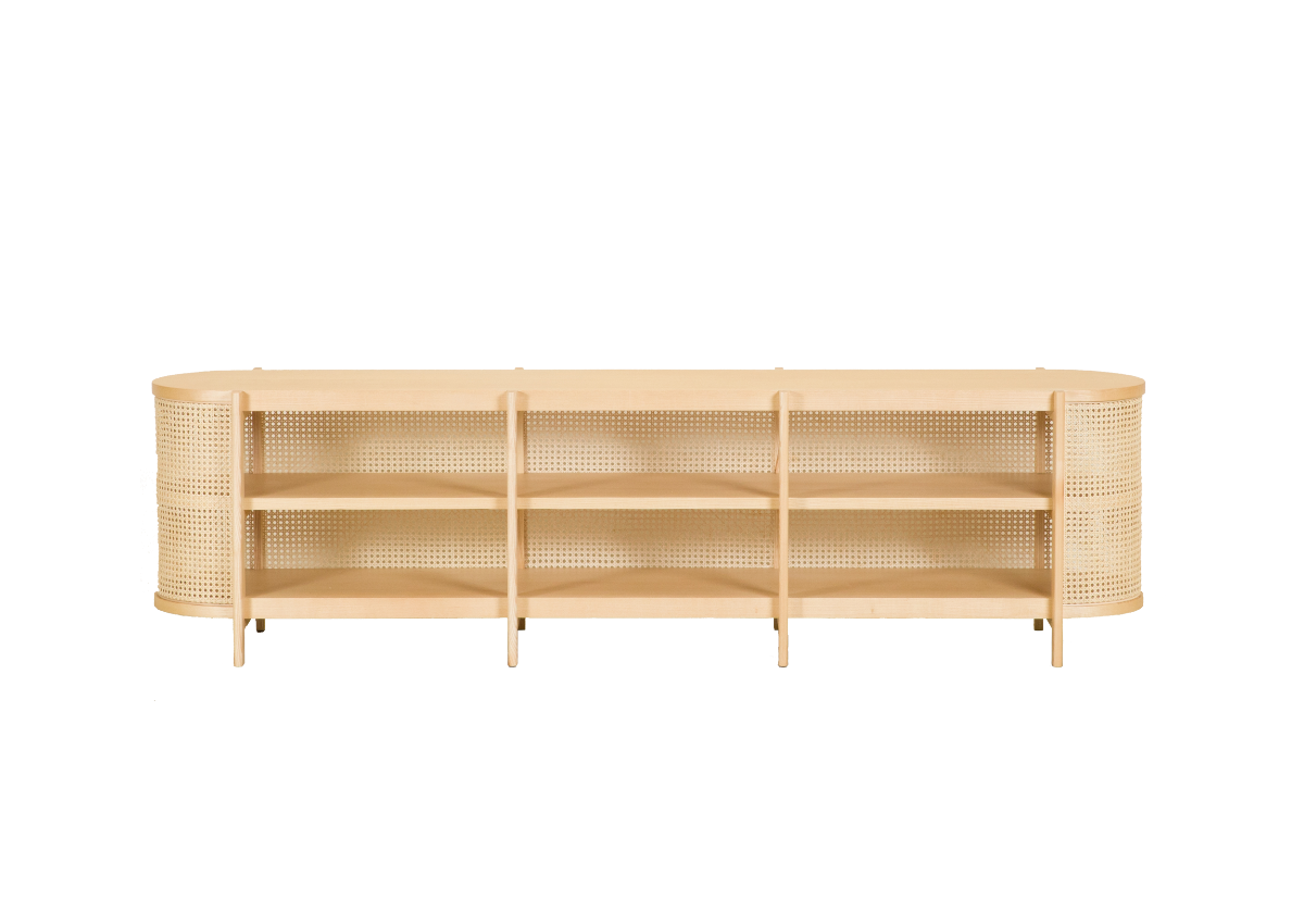 CANE low cabinet, natural