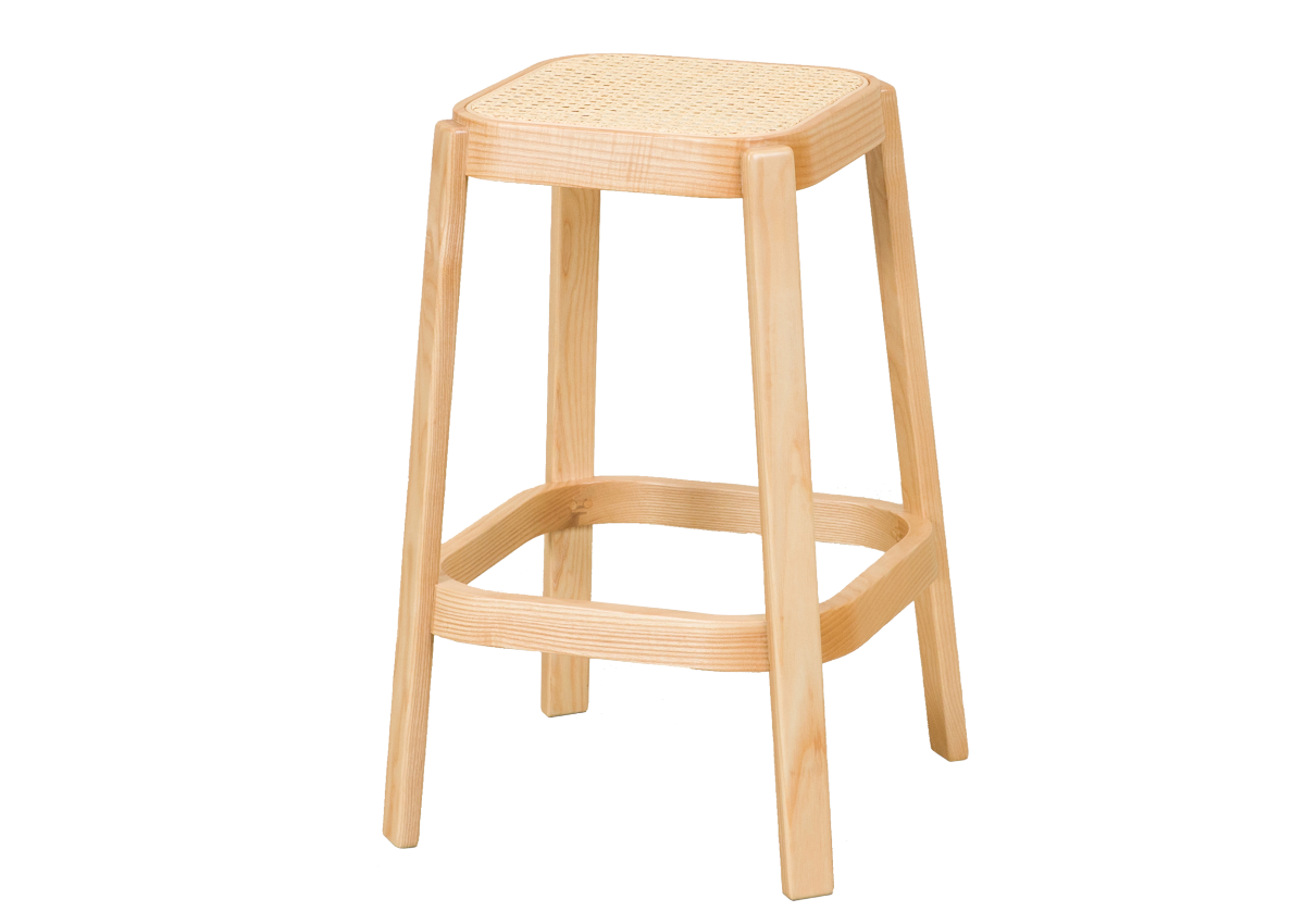 CANE high stool, natural