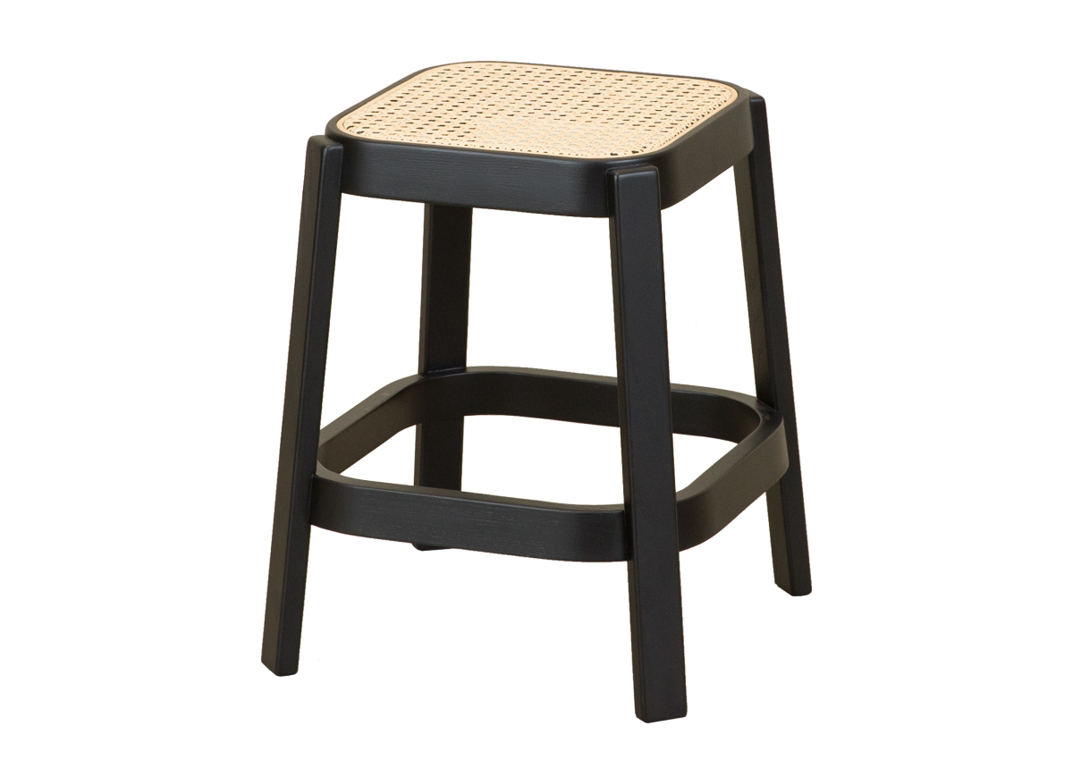 CANE low stool, black