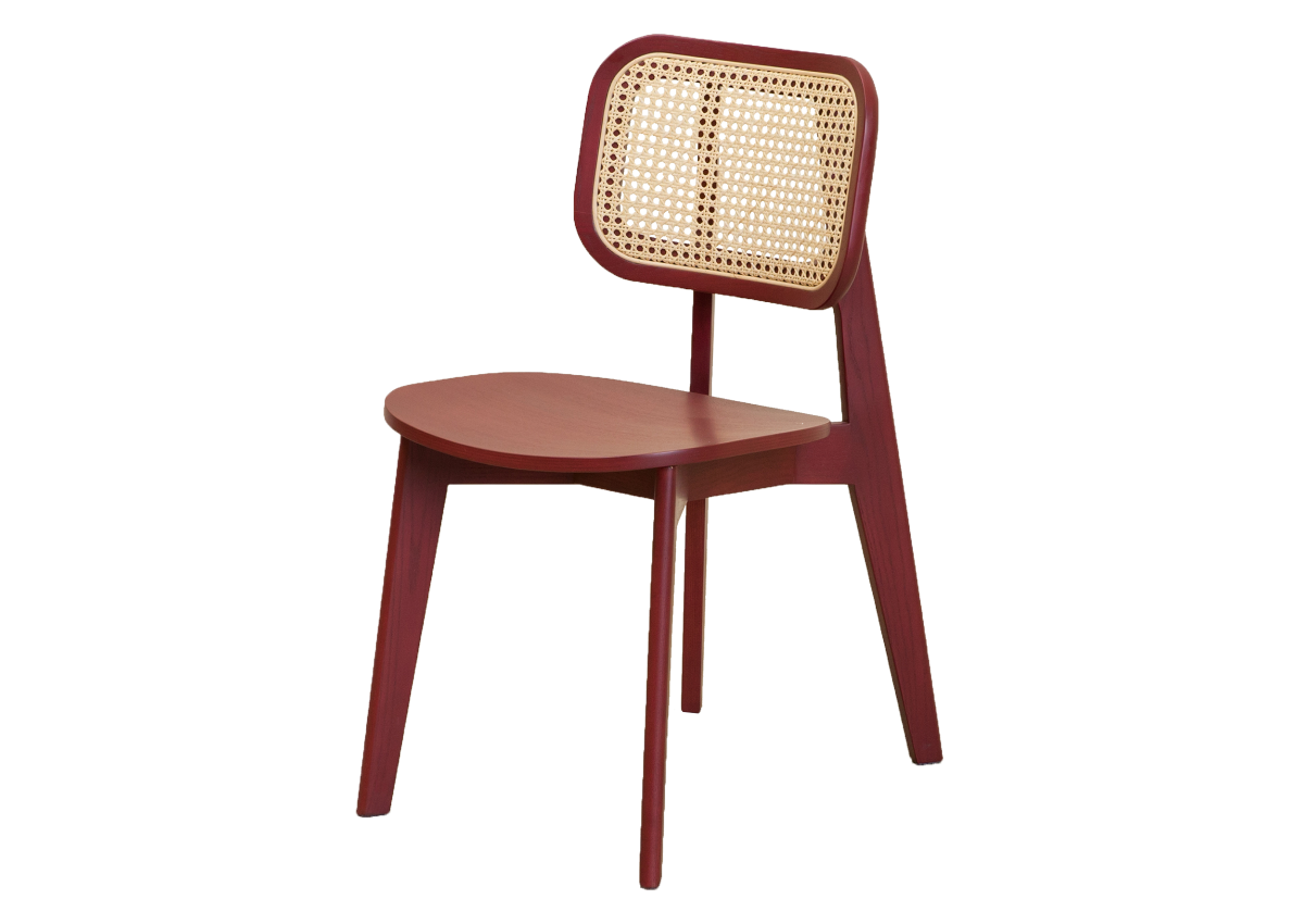 CANE chair A, dark red