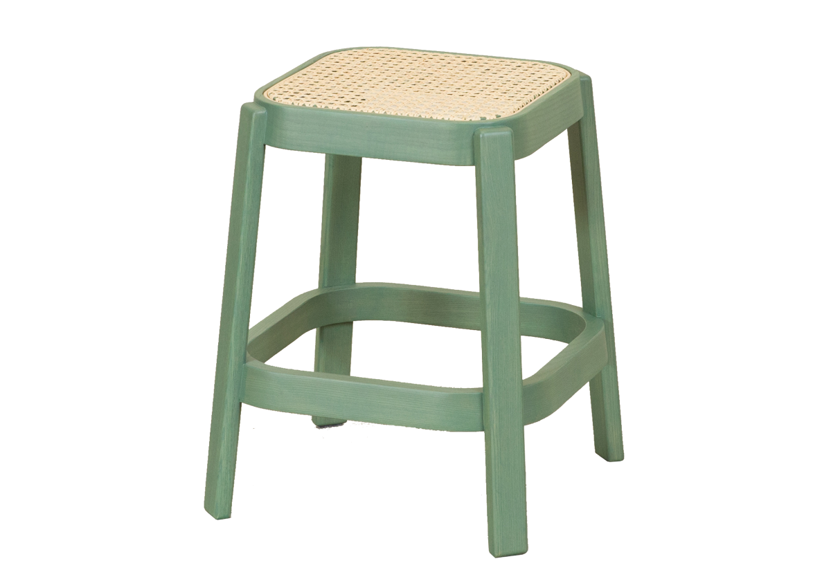 CANE low stool, cactus green