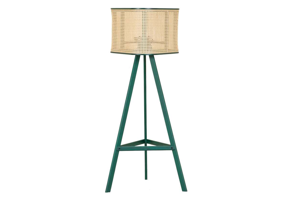CANE floor lamp, green
