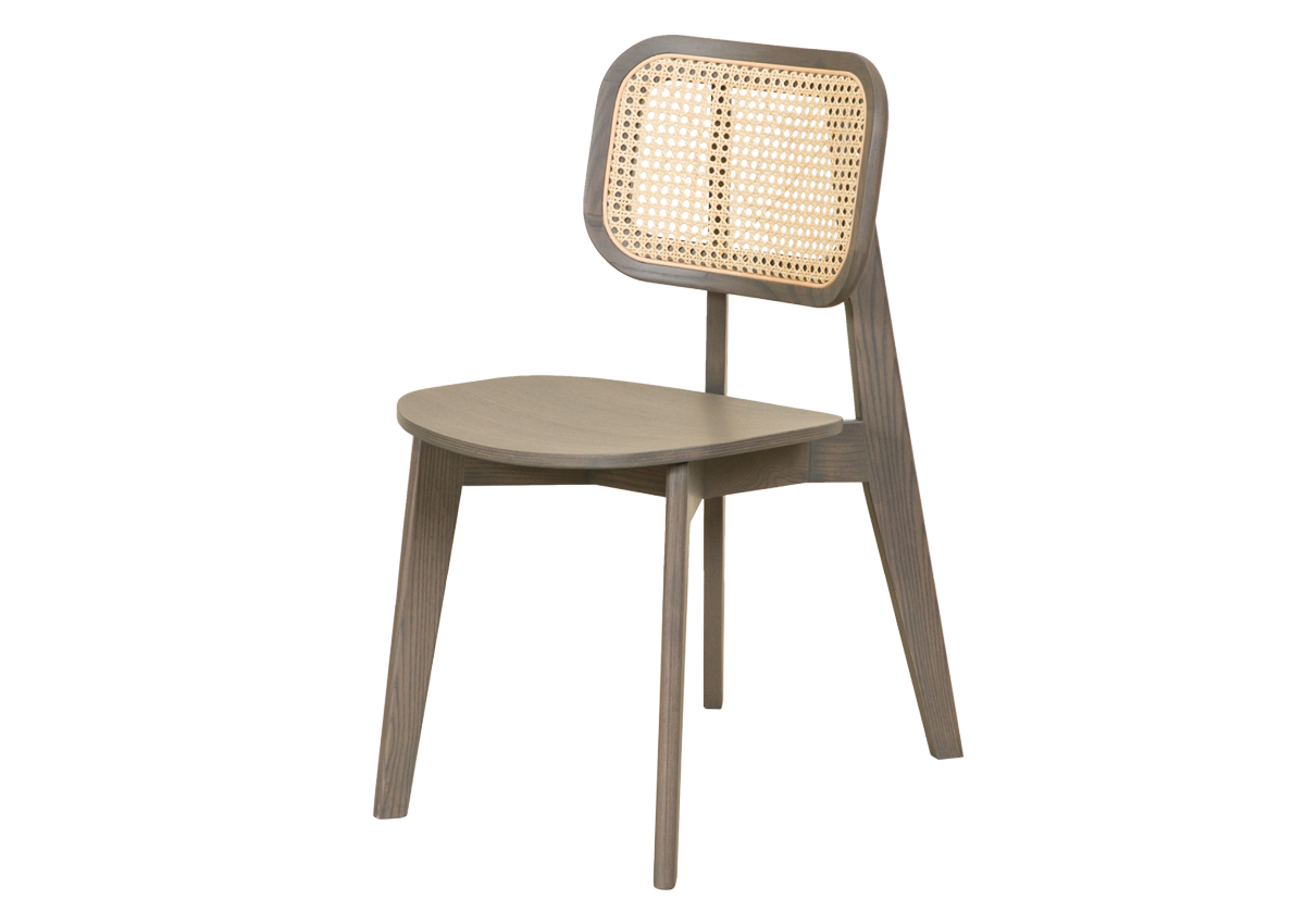 CANE chair A, dark grey