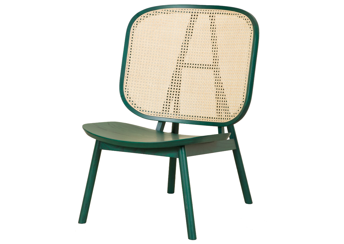 CANE lounge chair, green