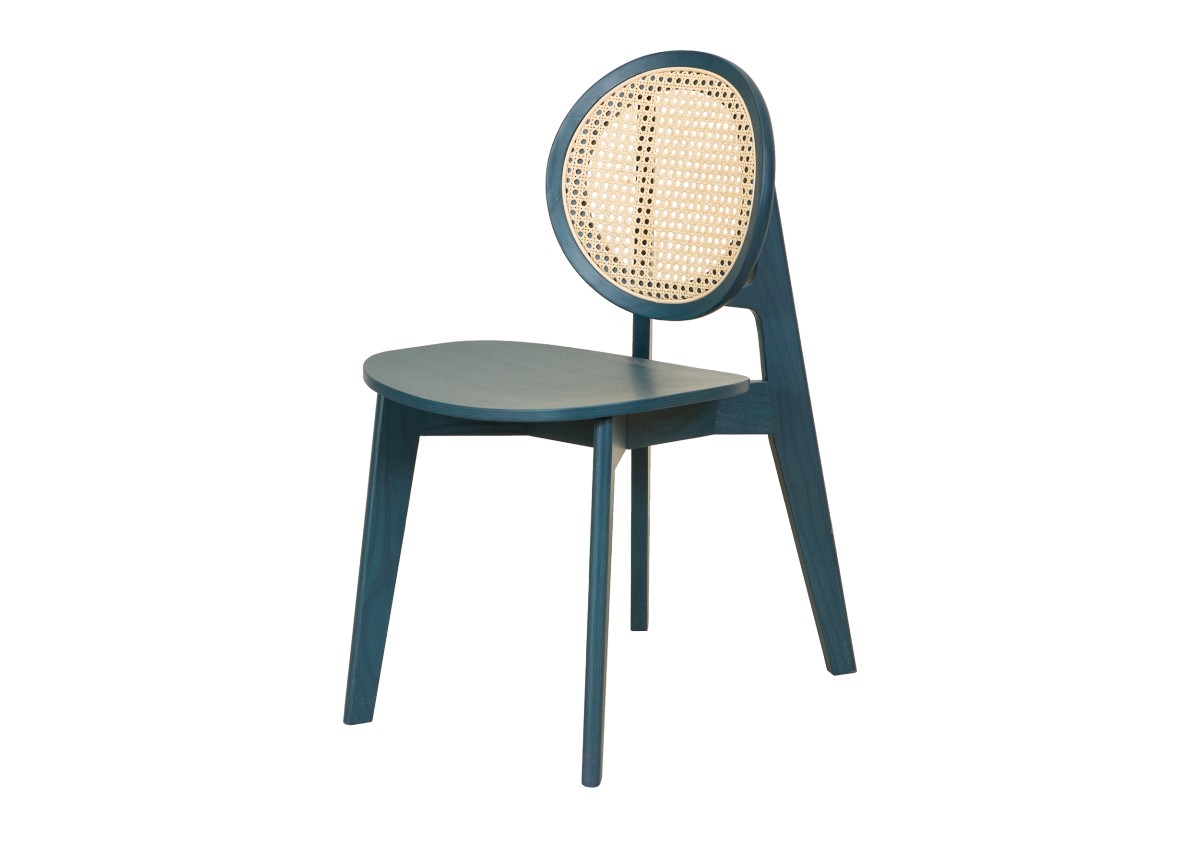 CANE chair B, ocean blue