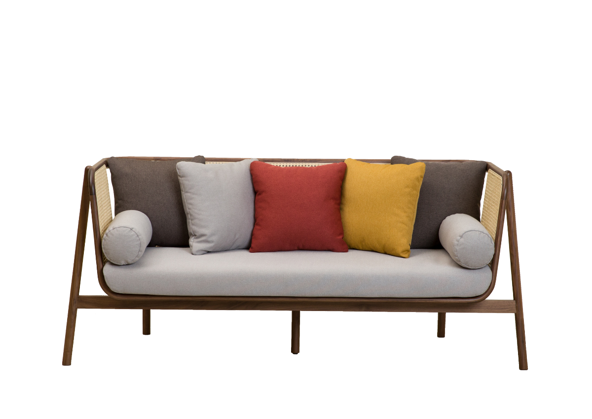 [매장문의] CANE SOFA-02 2P, natural walnut