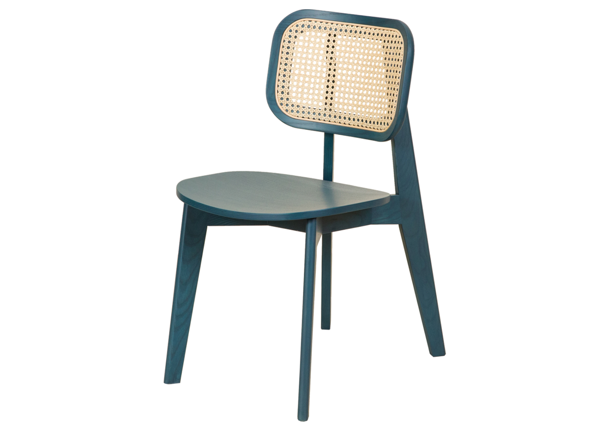 CANE chair A, ocean blue