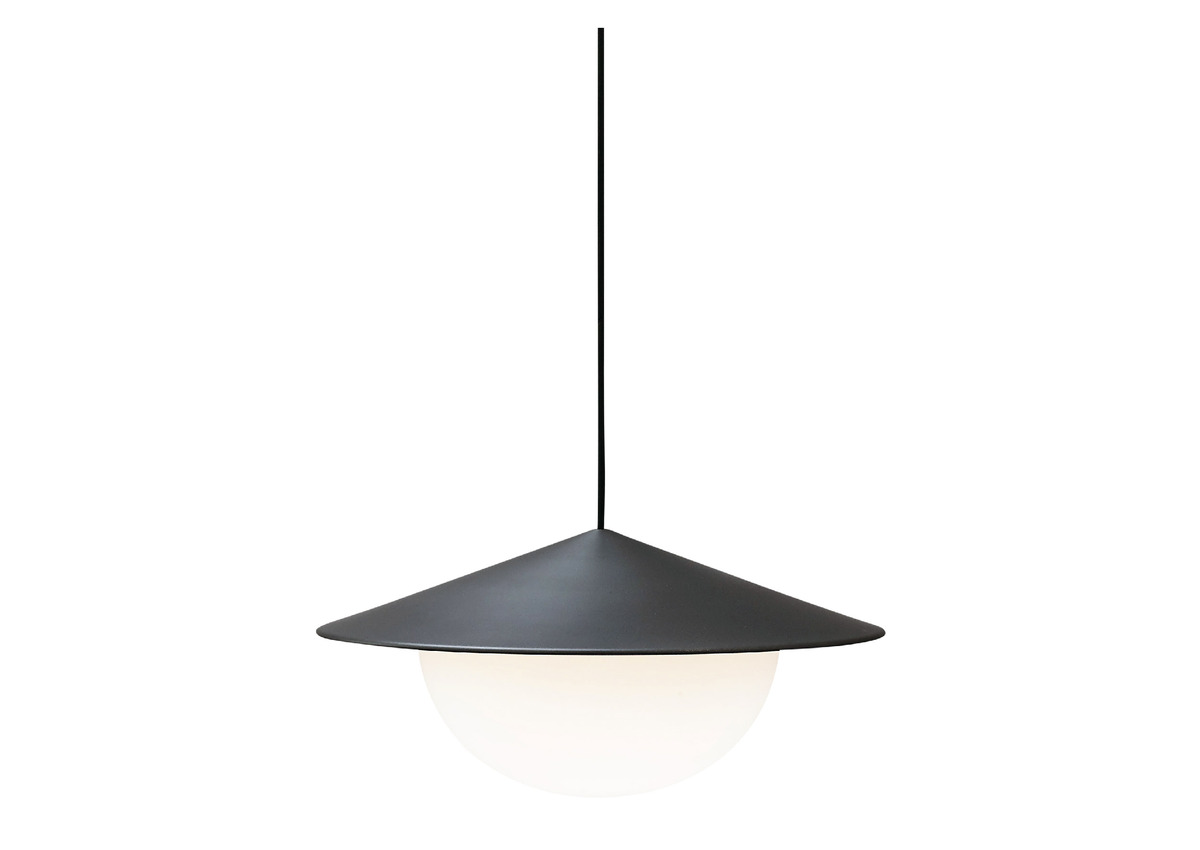AGO alley pendant, charcoal (2 sizes)