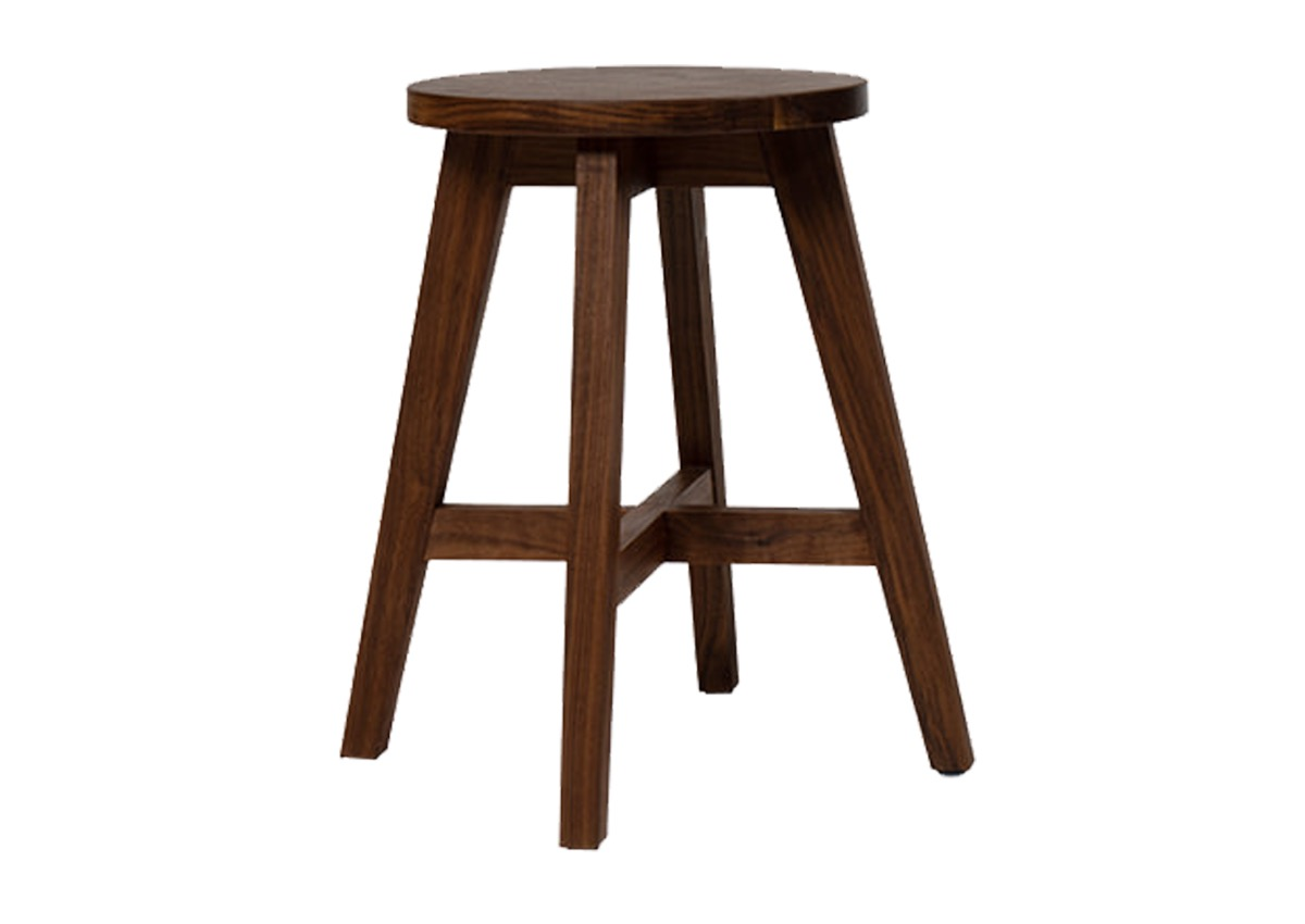 GHGM stool_SC-09, walnut (2 sizes)